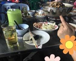 【タニヤの近くタイ焼肉ムーガタ】韓国人がタイ女をナンパして失敗