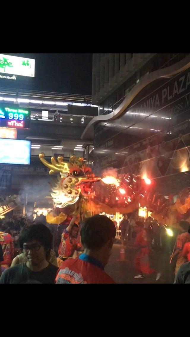 【タニヤにドラゴンが現れた!】毎年恒例$中国旧正月のイベント開催